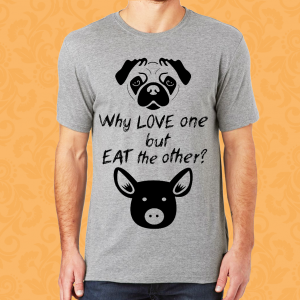 Camiseta Vegan Why Love One M F Eat