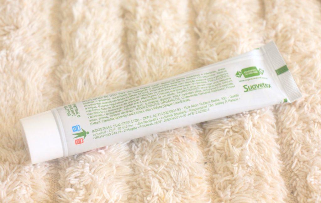 Pasta de Dente Natural, Orgânica e Vegana. Creme Dental Contente Natural
