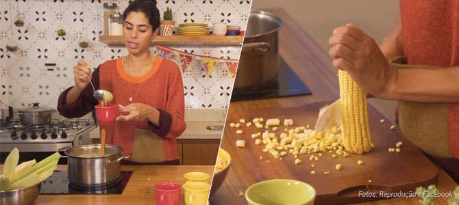 Bela Gil ensina uma receita de curau de milho vegano com leite de coco para as festas juninas