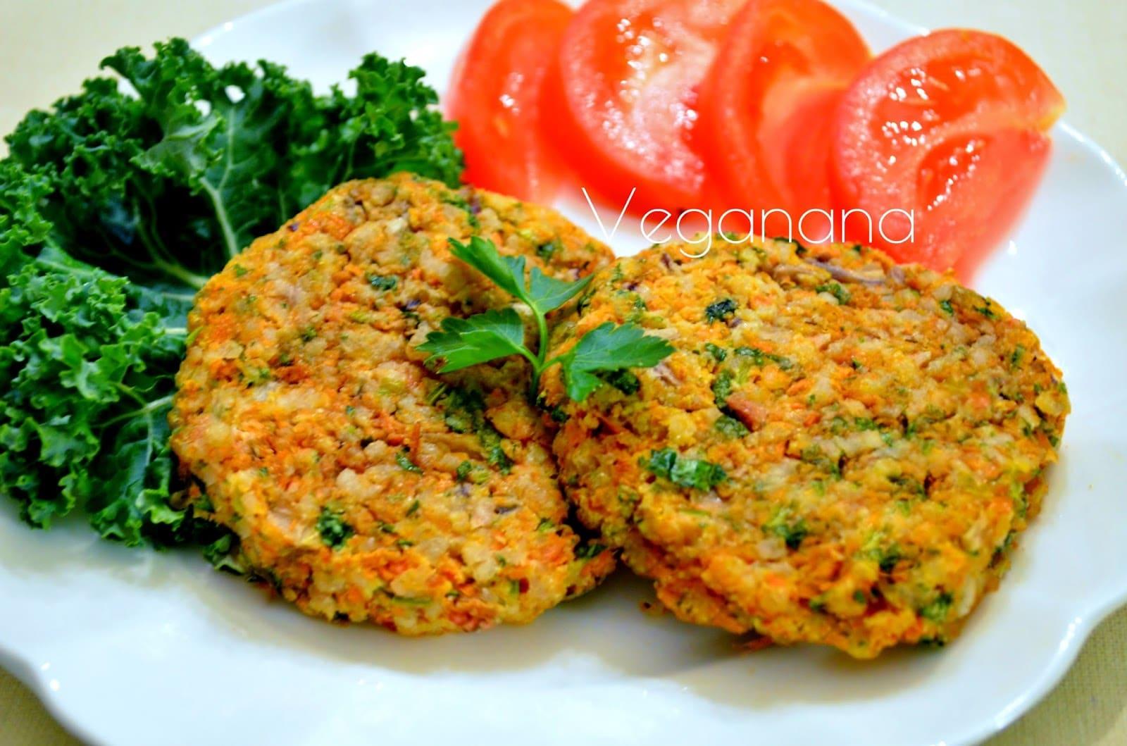 Hambúrguer de arroz e cenoura sem glúten